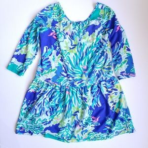 Lilly Pultizer Lynn Dress Wade & See Print XL